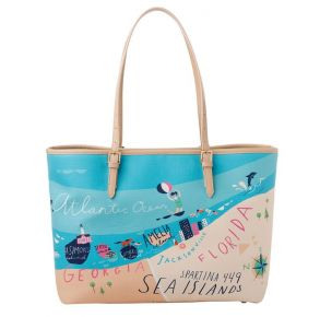 Greetings from Sea Islands Small Map Tote